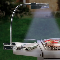 Clip-On LED Solar Barbecue Grill Light