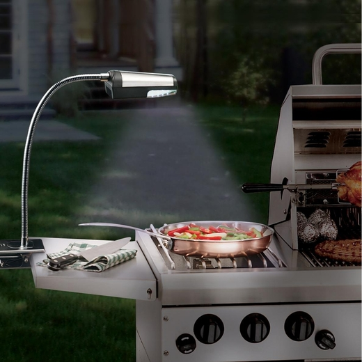 Battery operated grill light