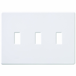 Fassada Three Gang Wallplates for Lutron Dimmers