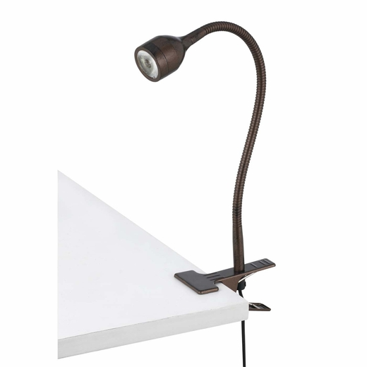 gooseneck clamp on led desk lamp cal lighting. Black Bedroom Furniture Sets. Home Design Ideas