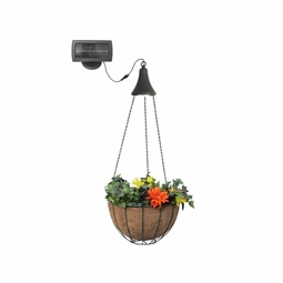 Hanging Basket with Solar LED Accent Light