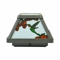 Hummingbird Solar LED Stained Glass Postcap for 4 x 4 Posts