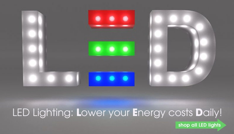 Lower your energy costs daily with LED lights