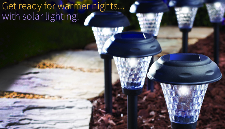 Get ready for warmer nights with solar lighting