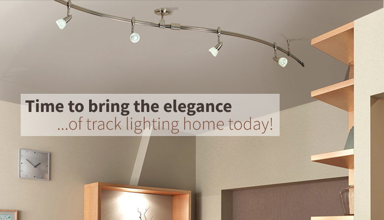 Bring the elegance of track lighting home today.
