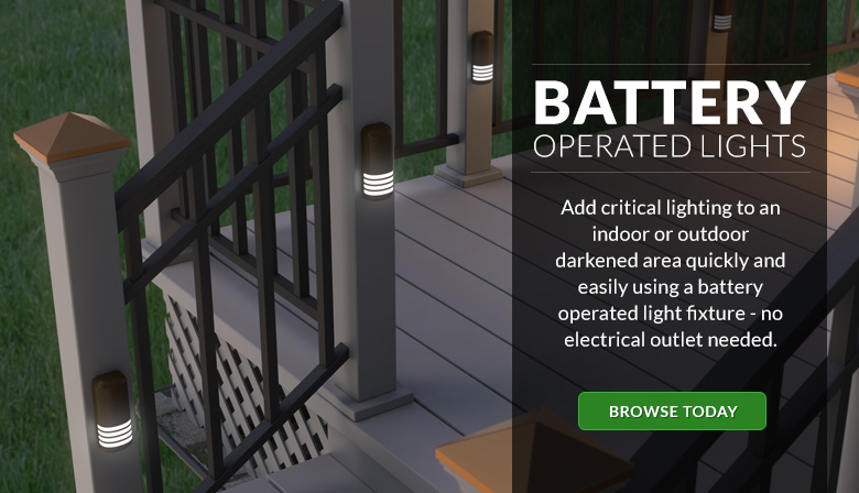 Add critical lighting to a darkened area quickly and easily with battery powered lighting.