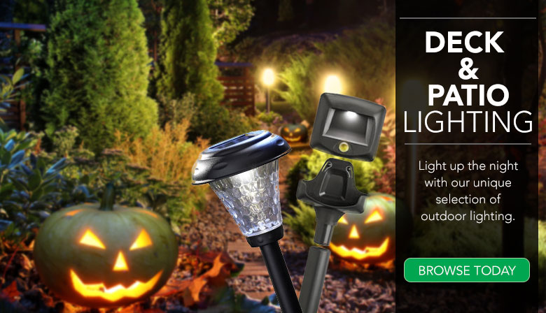 Light up your deck or patio with outdoor lighting.