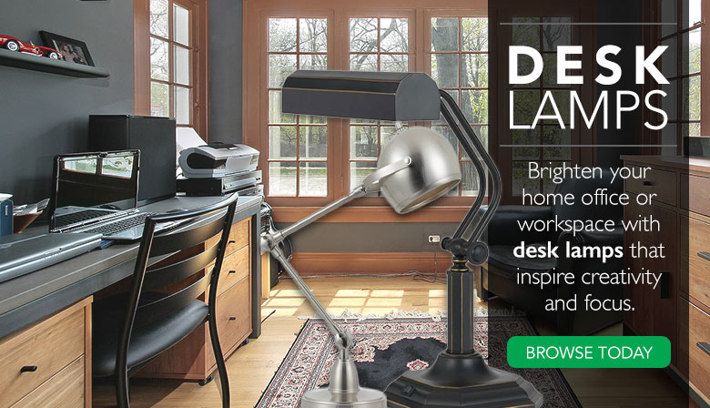 Brighten your home office or workspace with desk lamps.
