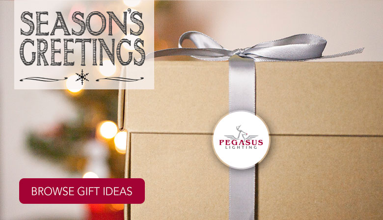 Season's Greetings. Shop our lighting gifts.
