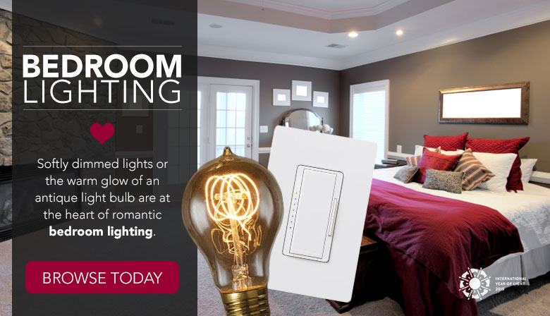 Softly dimmed lights are at the heart of romantic bedroom lighting.