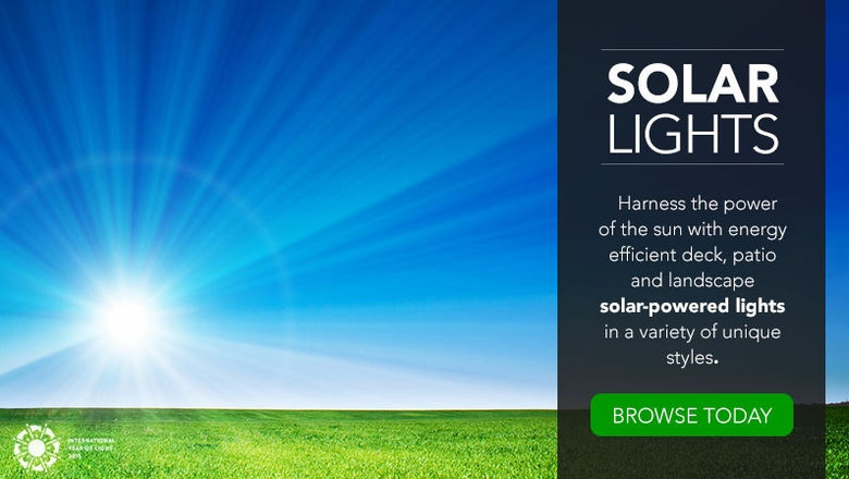 Harness the power of the sun with energy efficient solar-powered lights.
