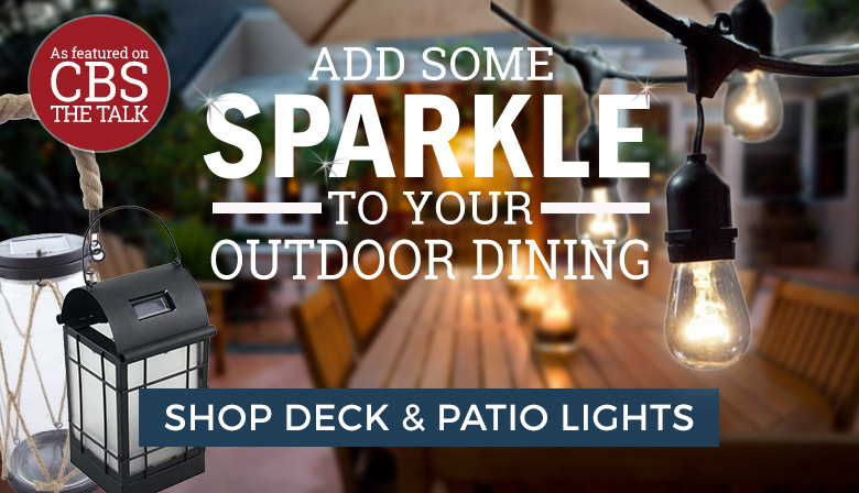 Add some sparkle to your outdoor dining