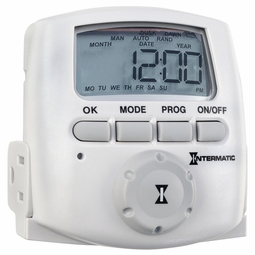 Intermatic Indoor Digital 2-Outlet Grounded Plug-In Timer with Astro Feature