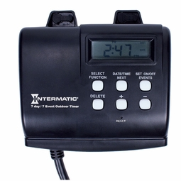 Intermatic Outdoor Digital 2-Outlet Grounded Plug-In Timer with Astro Feature