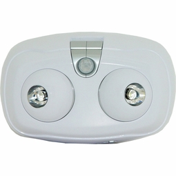 LED Battery Operated Double Swivel Security Light with Adjustable Motion Sensor