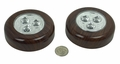 LED Battery Operated Puck Lights, Dark Wood Finish (2 Pack)