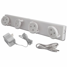 LED Battery Operated Track Light with AC Adapter