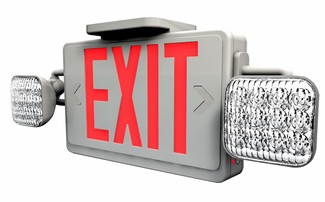 LED Exit Sign Combo with LED Emergency Lighting and Battery Backup