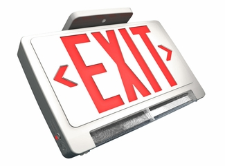 LED Exit Sign with Pipe Emergency Light and Backup Battery