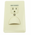 LED In-Wall Scoop Night Light with Power Outlet