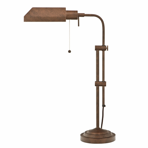 metal pharmacy desk lamp with pull string cal lighting. Black Bedroom Furniture Sets. Home Design Ideas
