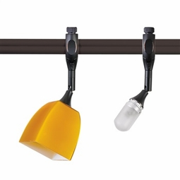 Nora Rail Halogen Mercure Swivel Spot Track Head and Paris Glass