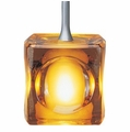 Nora Rail Halogen Pendants with Mega Ice Cube Glass