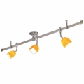 Nora Rail Straight 4-Foot Kit with 3 Halogen Mercure Track Heads and Paris Glass