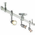 Nora Rail Straight 4-Foot Kit with 3 Halogen Neat Swivel Track Heads