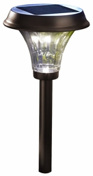 Richmond Solar LED Ultra Bright Path Lights, Rubbed Bronze (2 Pack)