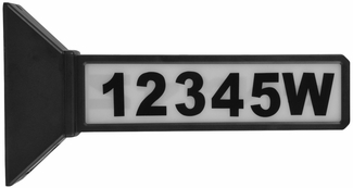 Solar LED Double Sided Address Sign