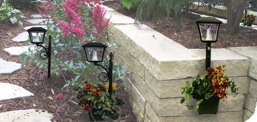 Solar LED Lantern Planters at Pegasus Lighting