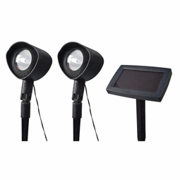 Solar LED Spot Lights with Remote Panel (2 Pack)