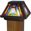 Solar LED Stained-Glass Postcap for 4 x 4 Posts