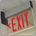 Surface Mount Edge Lit LED Exit Sign with No Battery Backup