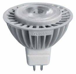 6 Watt - 12 Volt - 25 Watt Replacement - Dimmable LED Light Bulb - MR16 - GU5.3 Base - Sylvania