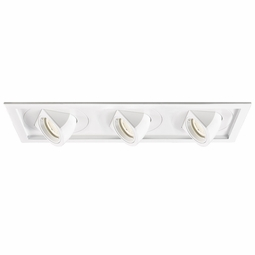 Tesla LED New Construction Non-IC High Output 3-Light Multiple Recessed Spotlight Kit
