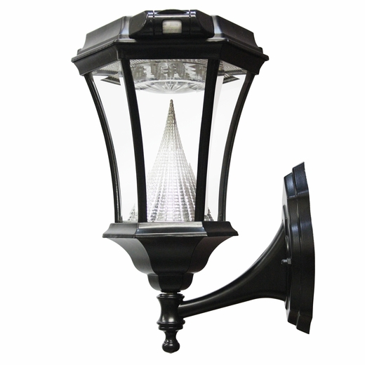 Victorian Solar LED wall mount lamp with motion sensor