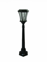 Victorian Solar LED Lamp and Post, 3.5-Foot Height