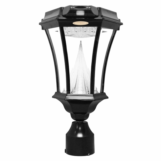 victorian solar lamp with motion sensor and post 7 foot. Black Bedroom Furniture Sets. Home Design Ideas
