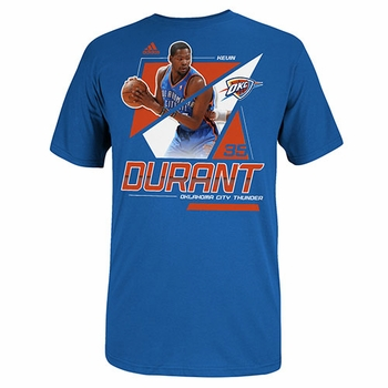 Kevin Durant Nickname Stars Adidas Tee-Blue - Click to enlarge