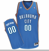 Oklahoma City Thunder adidas Custom Player Swingman Road Jersey - Blue<br><b><i>Choose a player or Personalize your jersey!</i></b>