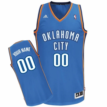 Oklahoma City Thunder adidas Custom Player Swingman Road Jersey - Blue<br><b><i>Choose a player or Personalize your jersey!</i></b> - Click to enlarge