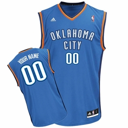 Oklahoma City Thunder adidas Custom Player Replica Road Jersey - Blue<br><b><i>Choose a player or Personalize your jersey!</i></b> - Click to enlarge