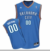 Oklahoma City Thunder adidas Custom Player Replica Road Jersey - Blue<br><b><i>Choose a player or Personalize your jersey!</i></b>