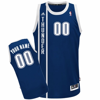 Oklahoma City Thunder adidas Custom Player Swingman Alternate Jersey - Navy<br><b><i>Choose a player or Personalize your jersey!</i></b> - Click to enlarge