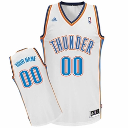 Oklahoma City Thunder adidas Custom Player Swingman Home Jersey - White<br><b><i>Choose a player or Personalize your jersey!</i></b> - Click to enlarge