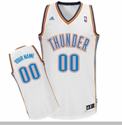 Oklahoma City Thunder adidas Custom Player Swingman Home Jersey - White<br><b><i>Choose a player or Personalize your jersey!</i></b>