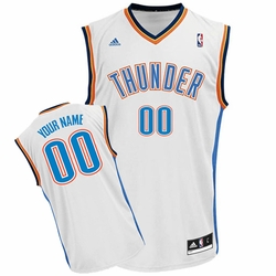 Oklahoma City Thunder adidas Custom Player Replica Home Jersey - White<br><b><i>Choose a player or Personalize your jersey!</i></b> - Click to enlarge