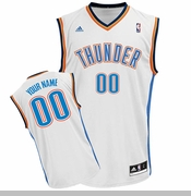 Oklahoma City Thunder adidas Custom Player Replica Home Jersey - White<br><b><i>Choose a player or Personalize your jersey!</i></b>